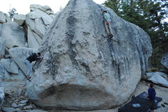 Rock Climbing Photo: The circle of bouldering... descending, spotting, ...