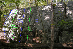 Rock Climbing Photo: Left side routes of Swamp King wall