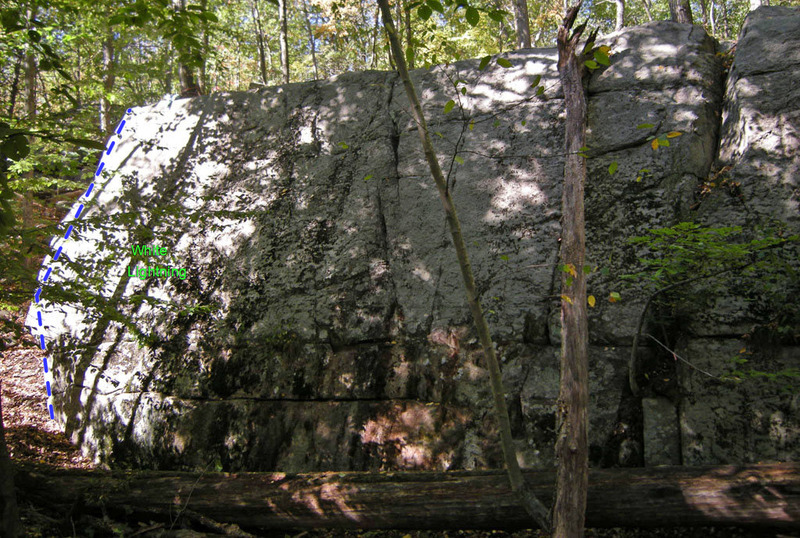 Rock Climbing Photo: Blank This on left side Swamp King wall