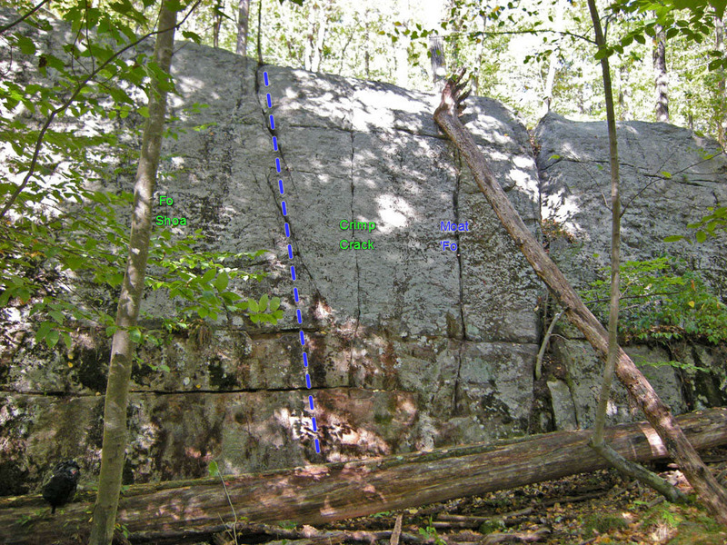 Rock Climbing Photo: Frog Spot on the right side of Swamp King wall