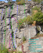 Rock Climbing Photo: old topo Right side of Tower Wall:  - missing a ro...