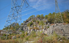 Rock Climbing Photo: Tower Wall with two power towers  - (Whetstone Wal...