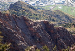 Rock Climbing Photo: Looking at a section of Geurt's from the N Summit ...