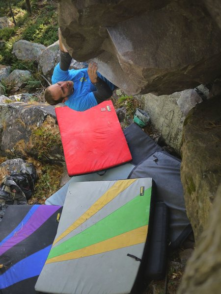 Rock Climbing Photo: Satermo with a nice colorful pad combo