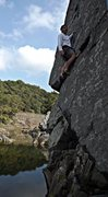 Rock Climbing Photo: Smiling after coming around the corner on 'Rock an...