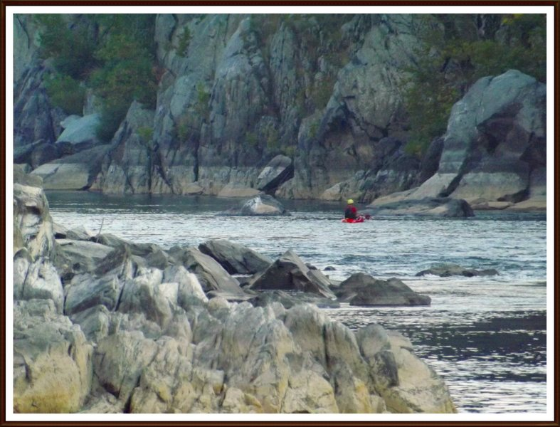 The Knob provides one of the most picturesque spots on the Potomac for watching the kayaks.