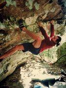 Rock Climbing Photo: Dave Hug warming up on Formaldehyde