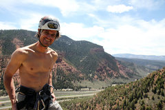Rock Climbing Photo: Me on top of the Wolcott Spire after the believed ...