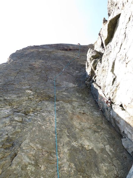 Top rope wall left of Lost Sailor. Deranged Sailor follows the micro gear placements up to the bulge.