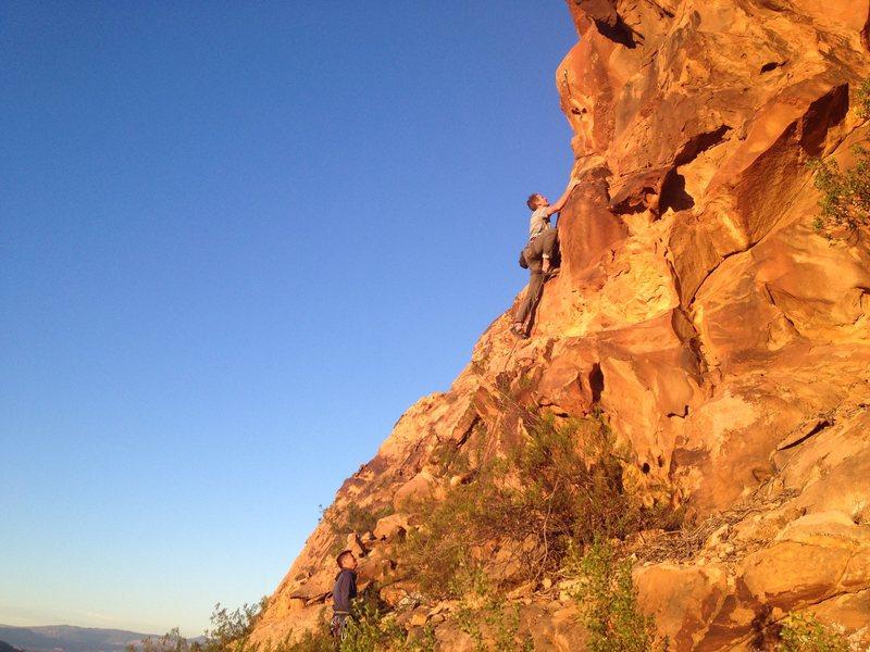 Rock Climbing Photo: Eli on Team Awesome, 5.9