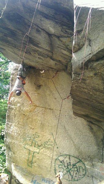 Rock Climbing Photo: Bat hang on Jesus Lives