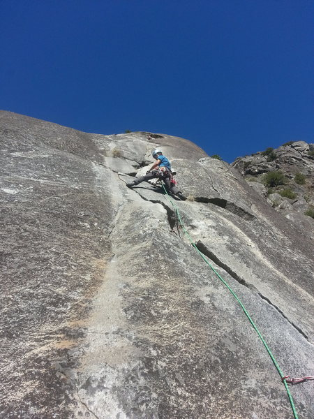 "Rock Climbing Photo: Nutcracker, P3. ""step off"" overrated"
