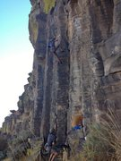 Rock Climbing Photo: Chris taking his first ever whip onto gear on Prom...