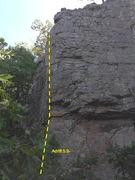 Rock Climbing Photo: The arete of Adrift 5.9-