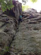 Rock Climbing Photo: Aubrey on Hidden Treasure