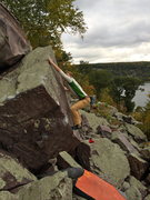 Rock Climbing Photo: The committing throw...  I did blow it a few times...