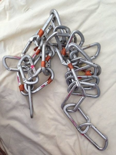 Rock Climbing Photo: 17 D-Shape & 7 Oval Carabiners for $49 Local, no s...