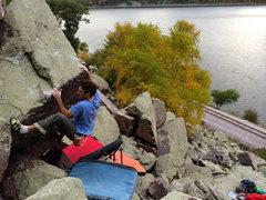 Rock Climbing Photo: Finishing it up