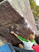 Rock Climbing Photo: View of the starting holds. A lower start will be ...