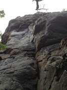 Rock Climbing Photo: The route begins in the difficult dihedral. You mo...