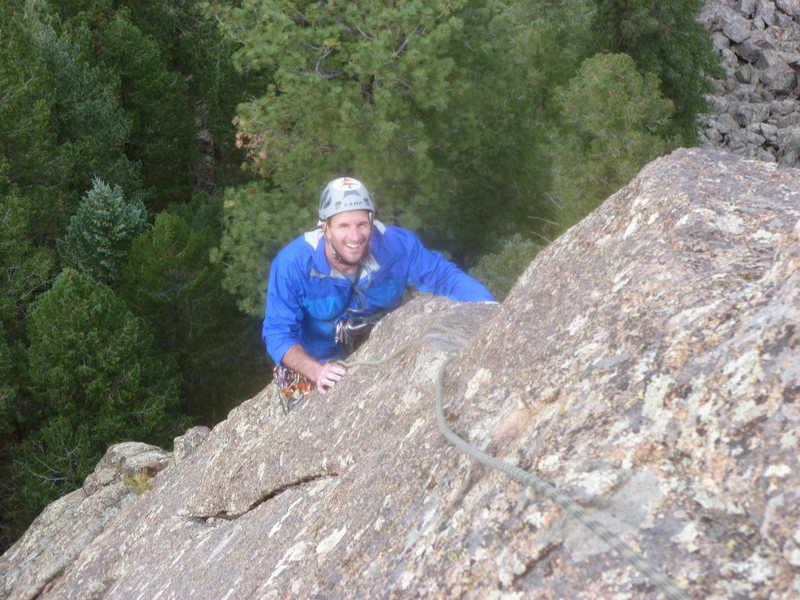 Rock Climbing Photo: Brian on the pitch 2 arete.