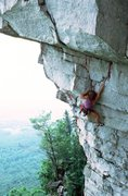 Rock Climbing Photo: Lynn Hill on The Zone, a variation of Twilight Zon...