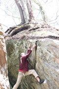 Bouldering on Friction Slab