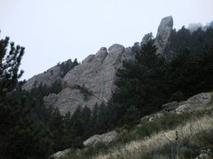 Rock Climbing Photo: A view from this part of the approach makes it cle...