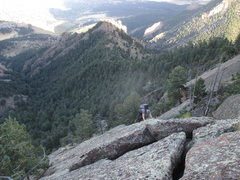 Rock Climbing Photo: Stuart P. on solo on the East Face (3rd tower) of ...