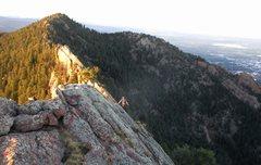 Rock Climbing Photo: Stuart Paul solos up the North Sneak on the Main C...