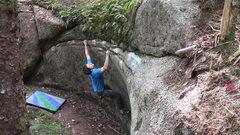 Rock Climbing Photo: Midway on the Vortex Traverse
