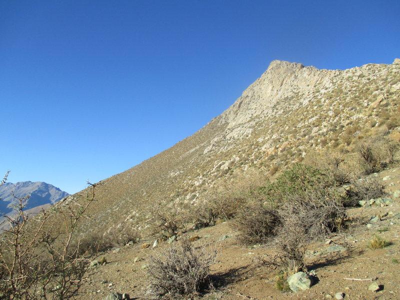 The East face of Cerro Mamalluca. Quality granite, especially on Diedro de La Luna.