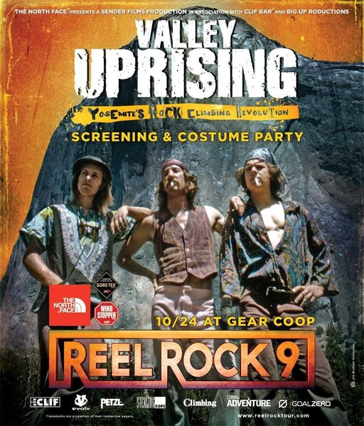 Reel Rock 9: Valley Uprising comes the OC at Gear Coop on October 24!