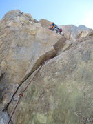 Rock Climbing Photo: Once at the ledge, there are two options: To the l...