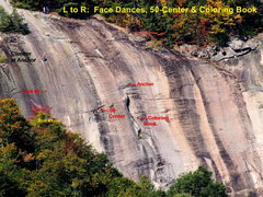 Rock Climbing Photo: Slab in the Face Dances Area