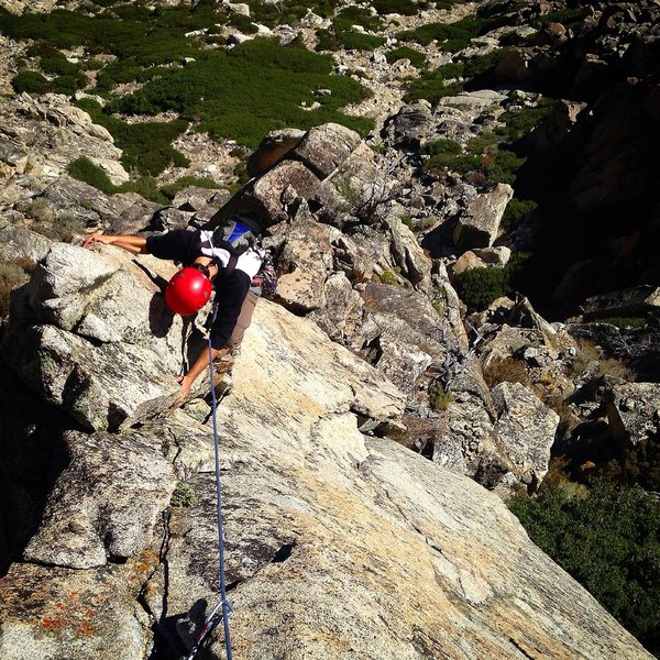 Rock Climbing Photo: This is a variation to P3.  The original route goe...