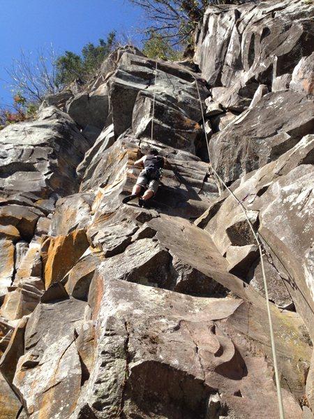 Rock Climbing Photo: Nate Ball TR'ing Zenith.