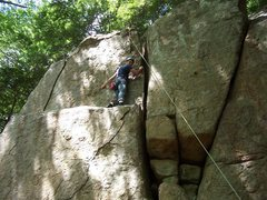 Rock Climbing Photo: There's a nice ledge you can rest on before the fi...