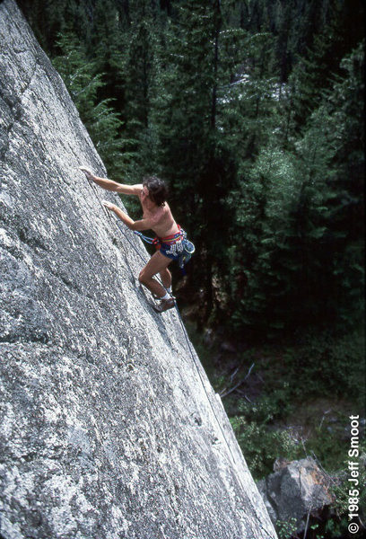 Icicle Creek Canyon. 1985. Photo: Jeff Smoot