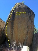 Rock Climbing Photo: The Color of Fear (5.11a TR), Holcomb Valley Pinna...