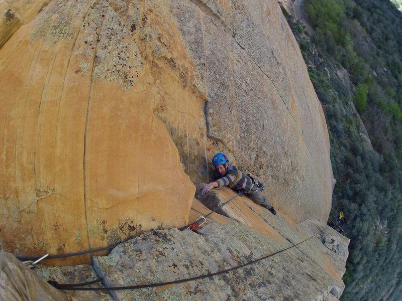 Rock Climbing Photo: Phil on p1
