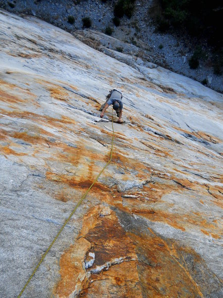Some shattered rock on pitch 3.