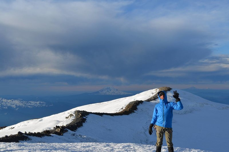 Mt. Rainier summit photo