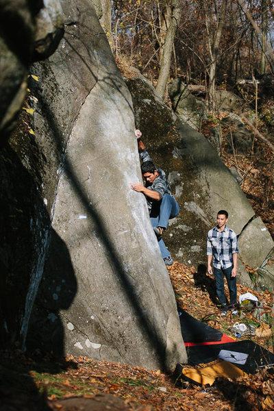 Rock Climbing Photo: Sam Chey working Shamoo. November 2013.