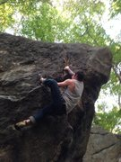 Rock Climbing Photo: Getting onto the face