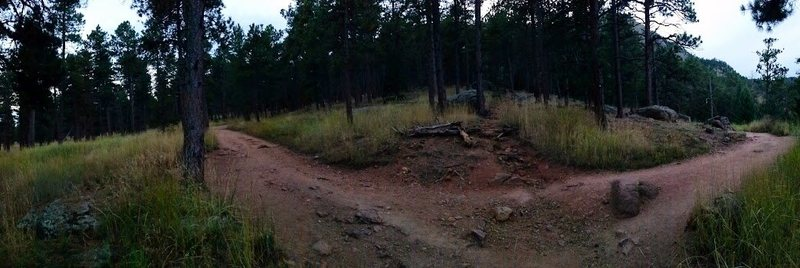 Side trail off Mesa Trail that heads up to the rock about 1/2 way between McClintock and Woods Quarry junctions.