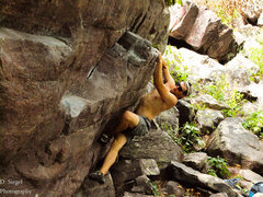 Rock Climbing Photo: Sending this on a humid and hot day.