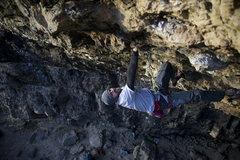 Rock Climbing Photo: matt up high on the route.