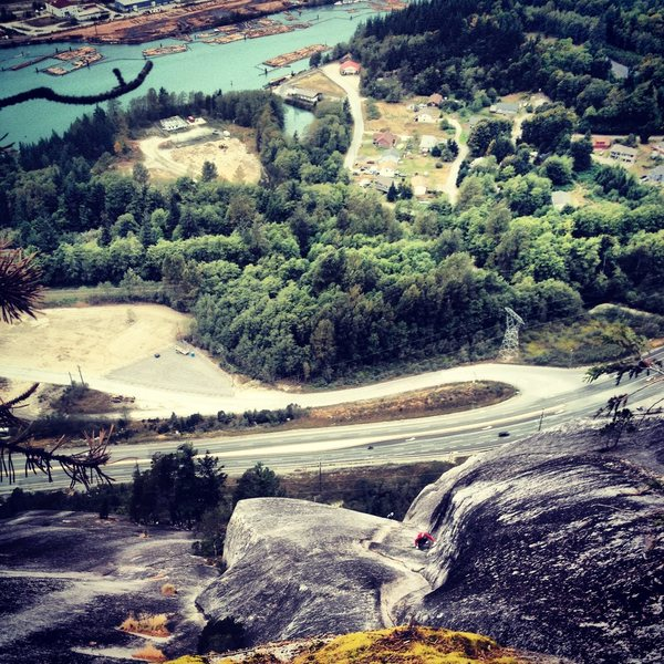 Rock Climbing Photo: Looking down after topping out Diedre, first outdo...