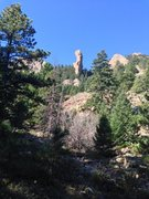 Rock Climbing Photo: This was our view from the Mesa Trail (approaching...